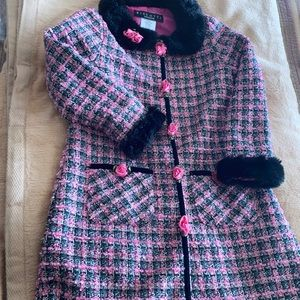 Biscotti Chanel style coat size 5